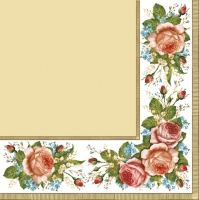 Servietten 33x33 cm - Vintage Roses Cream