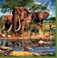 Lunch Servietten Afrika Animals