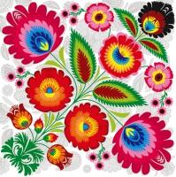 Servietten 33x33 cm - Floral Folk Pattern