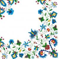 Servietten 33x33 cm - Kashubian Folk 7