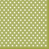 Servietten 33x33 cm - Grüne Punkte