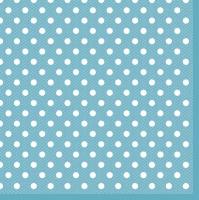 Servietten 33x33 cm - Blaue Punkte