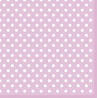 Servietten 33x33 cm - Rosa Punkte
