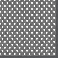 Servietten 33x33 cm - Graphitpunkte