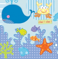Lunch Servietten Unterwasser