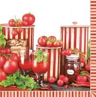 Lunch Servietten Tomaten