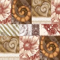 Servietten 33x33 cm - Graphic Mosaic Brown