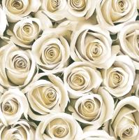 Servietten 33x33 cm - Elegant White Roses