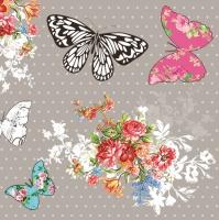 Servietten 33x33 cm - Vintage Butterflies
