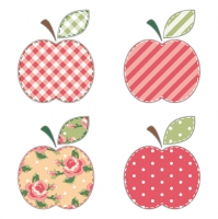 Servietten 33x33 cm - Patchwork Apples