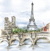 Lunch Servietten Paris in Watercolour