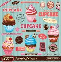 Servietten 33x33 cm - Vintage Cupcake Poster