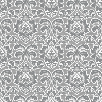 Servietten 33x33 cm - Wallpaper Pattern Silver