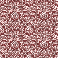Servietten 33x33 cm - Wallpaper Pattern Claret