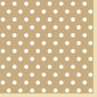 Servietten 33x33 cm - Beige Punkte II
