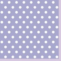 Servietten 33x33 cm - Lavendel Punkte II