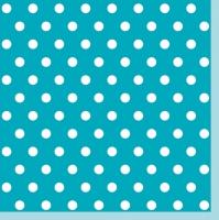 Servietten 33x33 cm - Blue Dots II