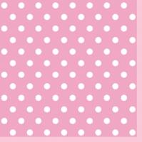 Servietten 33x33 cm - Pink Dots II