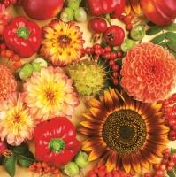 Servietten 33x33 cm - Herbstliche Vielfalt