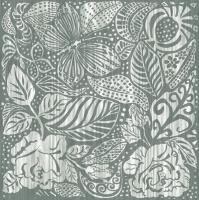 Servietten 33x33 cm - Monochrome Garden Grey