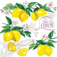 Servietten 33x33 cm - Juicy Lemons