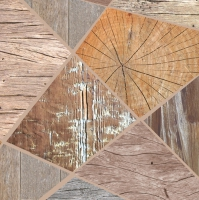 Servietten 33x33 cm - Wooden Collage