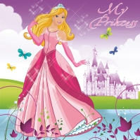 Servietten 33x33 cm - Beautiful Princess