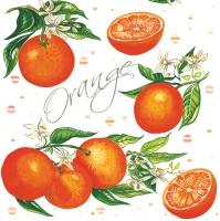 Servietten 33x33 cm - Juicy Oranges