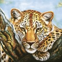 Servietten 33x33 cm - Leopard Look