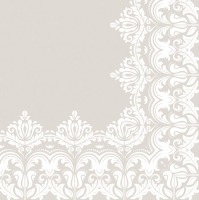 Servietten 33x33 cm - Ornament Border Beige