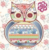 Servietten 33x33 cm - Patterned Owl