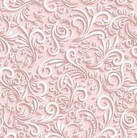 Servietten 33x33 cm - Classic 3D Pink