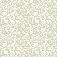 Servietten 33x33 cm - Romantic Meadow Light Olive