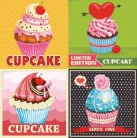 Servietten 33x33 cm - Cupcakes Limited Edition