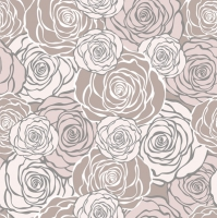 Servietten 33x33 cm - Graphic Roses Pattern Pink (pearl effect)