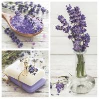 Servietten 33x33 cm - Lavender Spa Squares