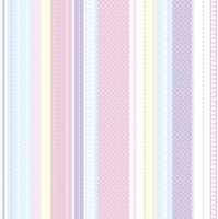 Servietten 33x33 cm - Pastel Stripes and Dots
