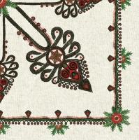 Servietten 33x33 cm - Parzenisches Muster