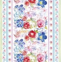 Servietten 33x33 cm - Watercolour Floral Pattern