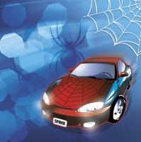 Servietten 33x33 cm - Spider Car