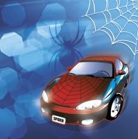 Servietten 33x33 cm - Spider Car