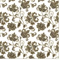 Servietten 33x33 cm - Floral Oriental Background