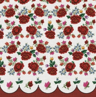 Servietten 33x33 cm - Roses Embroidery Pattern