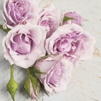 Servietten 33x33 cm - Light Pink Roses with Buds