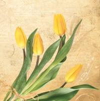 Lunch Servietten Gelbe Tulpen