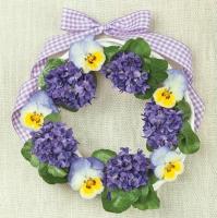 Servietten 33x33 cm - Violets Wreath
