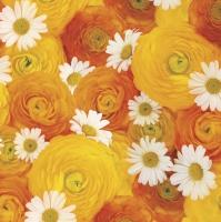 Servietten 33x33 cm - Sunny Bouquet