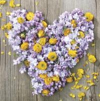 Servietten 33x33 cm - Flowers and Love Power