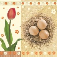 Lunch Servietten Tulips+Eggs
