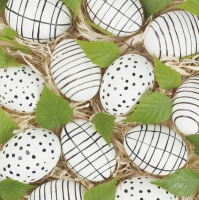 Servietten 33x33 cm - Handmade Eco Easter Eggs